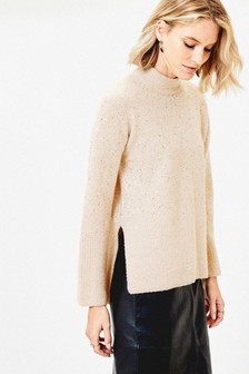 Oasis Natural Sally Sequin Jumper