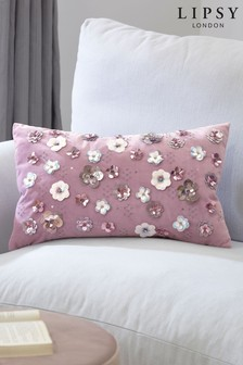 Lipsy Beaded Floral Cushion