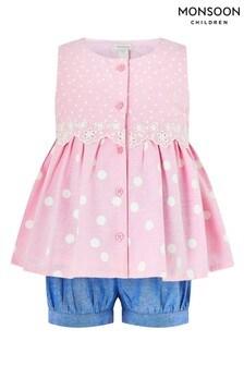 Monsoon Pink Baby Suzie Spot Set