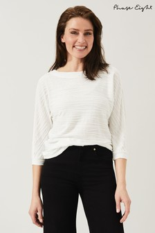 Phase Eight Cream Belle Wave Ripple Top