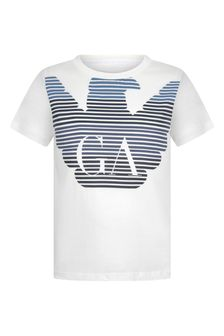 Boys Cotton Logo Print T-Shirt