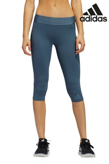 adidas Blue AlphaSkin Tech Capri Leggings