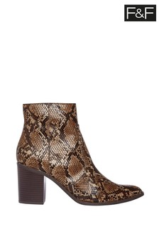 F&F Multi Western Snake Boots