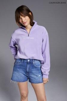 Calvin Klein Jeans Blue High Rise Shorts