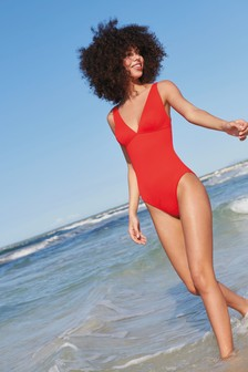 Sculpt And Shape Ribbed Plunge Swimsuit