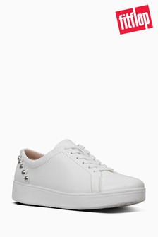 FitFlop™ Urban White Scallop Edge Rally Tennis Sneaker