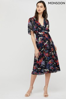 Monsoon Blue Oaklyn Print Tea Dress