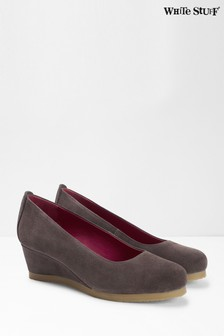 White Stuff Grey Issy Wedge Shoes