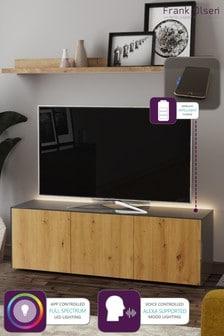 Frank Olsen Smart LED Grey and Oak Large TV Unit