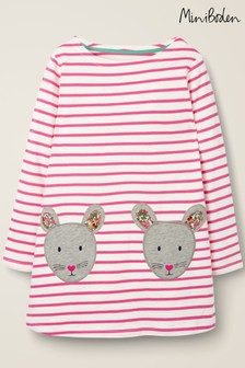 Boden Pink Appliqué Pocket Tunic