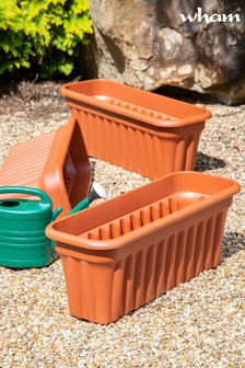 Set of 3 Vista 80cm Garden Troughs by Wham