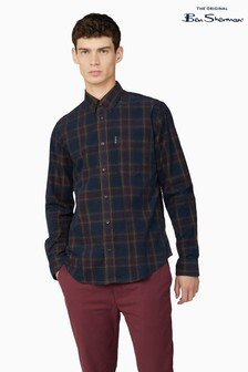 Ben Sherman Port Printed Corduroy Check Shirt