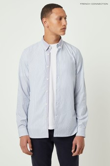 Chemise formelle à rayures French Connection bleue
