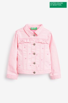 Benetton Pink Denim Jacket