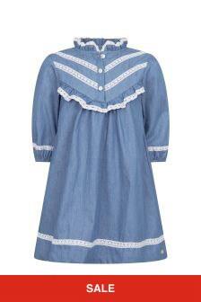 Tartine et Chocolat Girls Blue Cotton Dress
