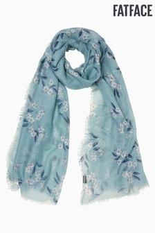 FatFace Schal mit Blumenmuster, Blau