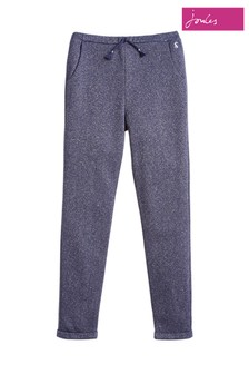 Joules Blue Jazzy Luxe Sparkle Joggers