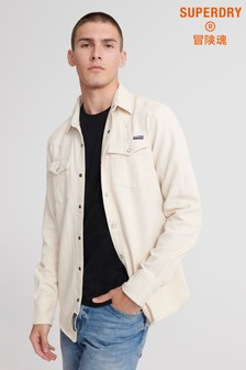 Superdry Ecru Long Sleeve Shirt
