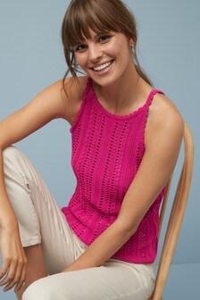 Crochet Look Vest