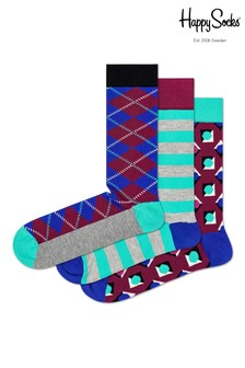 Happy Socks Argyle Socks Three Pack