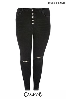 River Island Curve Black Hailey Jeans