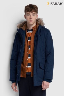 Farah True Navy Bolton Parka Jacket