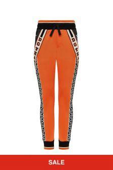 Dolce & Gabbana Kids Boys Orange Technical Jersey Joggers