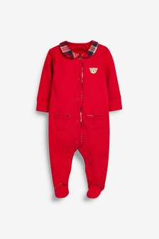 GOTS Organic Smart Single Bear Sleepsuit (0mths-2yrs)