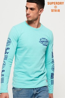 Superdry Ticket Type Graphics Long Sleeve T-Shirt