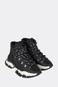 Kids Black High Top Trainers