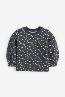 Sparkle Puff Sleeve Sweatshirt (3mths-7yrs)