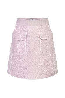 Burberry Kids Girls Pink Skirt