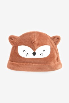 Fox Velour Hat (0-12mths)