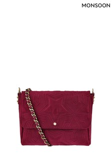 Monsoon Red Sasha Star Quilted Bag