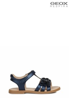 Geox Girl's Karly Blue Sandals