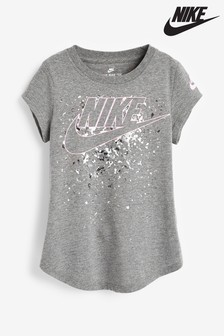 Nike Little Kids Grey Futura Regrind Logo T-Shirt