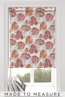Richmond Autumn Red Made To Measure Roller Blind