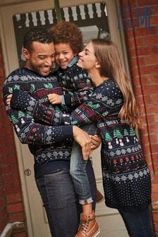 """Męski sweter z okrągłym dekoltem we wzory z zestawu pasującego dla całej rodziny """"Matching Family"""""""