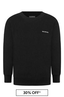 Balenciaga Kids Kids Cotton Logo Sweater