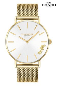 Coach Gold Plated Mesh Perry Watch