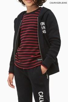 Calvin Klein Jeans Boys Logo Full Zip Hoody