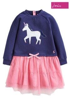 Joules Hettie Sweatshirt-Kleid im Lagen-Look
