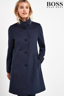 BOSS Blue Ojulie Wool Cashmere Coat