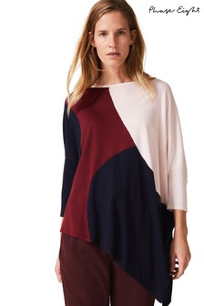 Phase Eight Red Cady Circle Colourblock Knit Jumper
