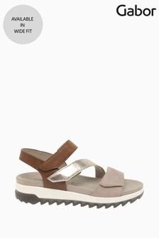 Gabor Nude Verity Anikrosa Multi Strappy Sandals