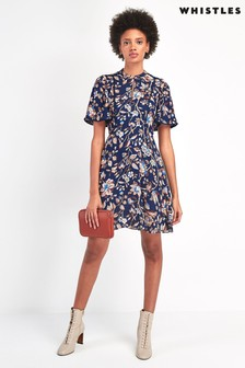 Whistles Multi Prarie Blossom Print Dress