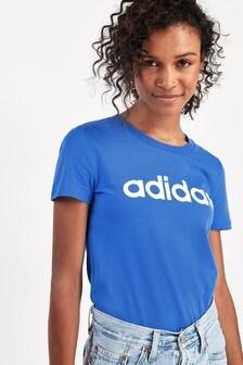 adidas Essentials Blue Linear Slim Fit T-Shirt