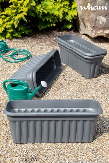 Set of 5 Vista 80cm Garden Troughs by Wham