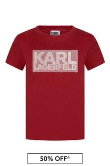 Boys Red Cotton Jersey T-Shirt