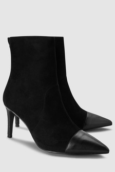Heritage Suede Heeled Boots